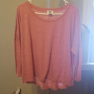 Old navy pink soft tlong sleeve tshirt